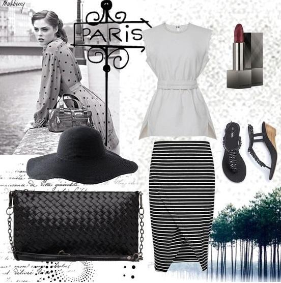 Модный летний Look сезона лето 2015 с нашей женской сумкой Модель: Avelin Цвет: Black Артикул: В00677 от Trendy Bags