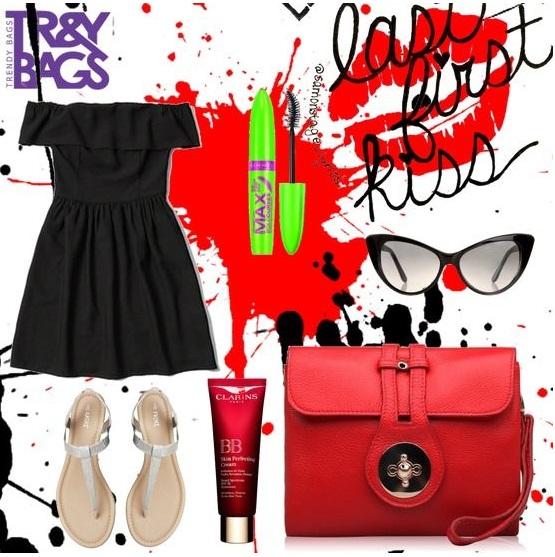 Женский клатч красного цвета из натуральной кожи от Trendy Bags Модель: OMEGA Артикул: B00462