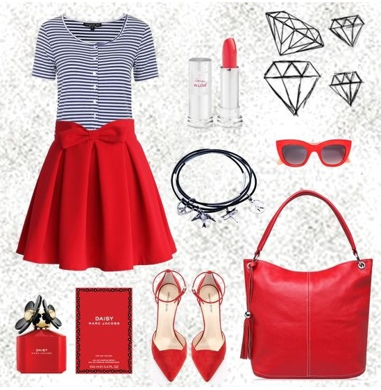 Женская сумка красного цвета от Trendy Bags Модель Callipso Артикул B00358 Сумки недорого