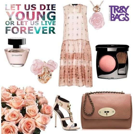 Вечерний летний look 2015 с недорогой женской сумкой из кожи от Trendy Bags Модель DELICE Артикул: B00232