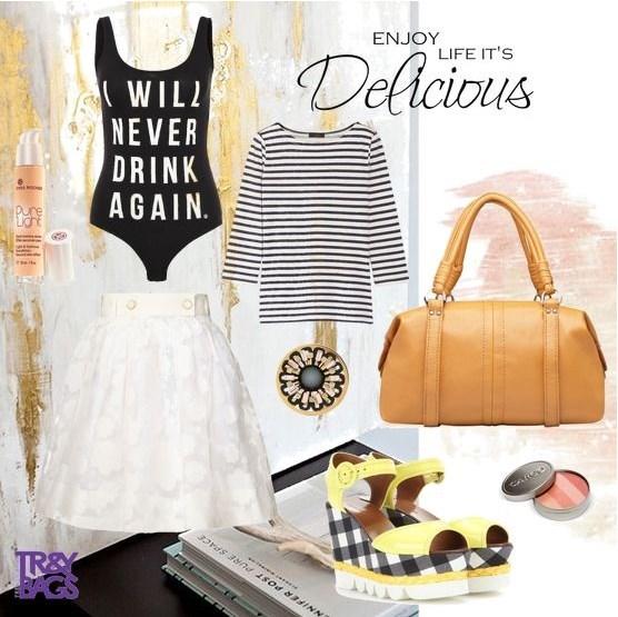 Женский летний образ с сумочкой Tesso от Trendy Bags