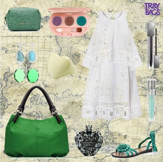 Летняя свежая зеленая женская сумочка KLEO