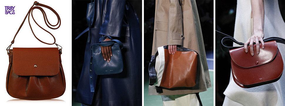Стильные кожаные сумки через плечо от TRENDY BAGS