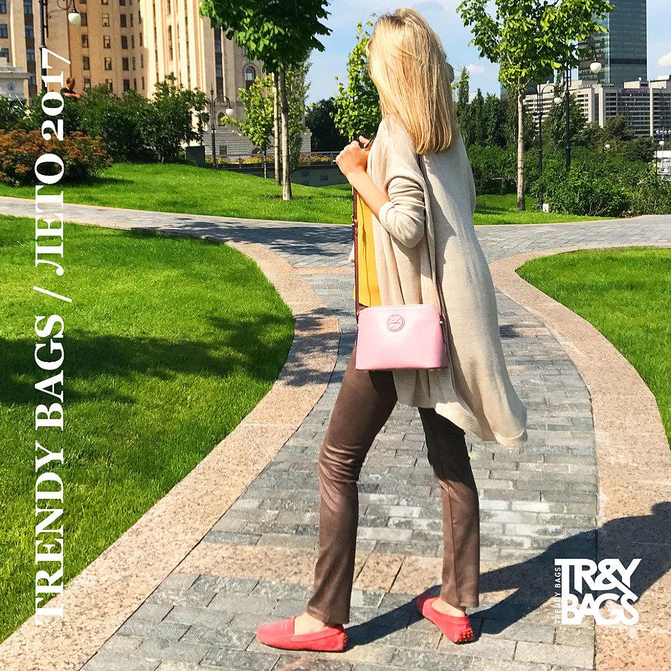 Стильная кросс-боди из натуральной кожи - MOXY